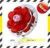 Fashion metal jewel flower foldable bag hanger