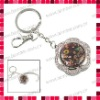 Flower Shaped Purse Hanger/Bag Hook with Key Chain