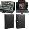 Folio style Litchi grain PU leather case for Kindle Fire sleeve--hot selling!!