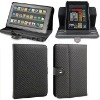 Folio style Twill pattern PU leather case for Amazon Kindle Fire sleeve--hot selling!!