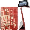 Folio style laser on real leather case for ipad 2 case, cover for ipad 2--Hot selling!!!