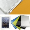 For Apple iPad 2 design back cover with woven pattern coated