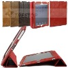 For Apple iPad 2 newest real leather smart cover,hot selling smart cover