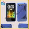 For HTC Vivid Case Cover for Android Holiday Raider Velocity 4G Phone Blue Gel Soft