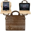 For iPad 2 Leather Case with Handles, genuine leather material