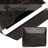 For iPad 2 cover, top layer buffalo hide material,envelope style leather case for ipad 2 case