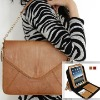 For iPad 2 fashion zipper handle genuine leather bag