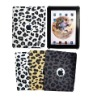 For iPad back cover leather in Leopard pattern
