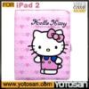 For iPad2 case iPad 2 hello kitty leather case