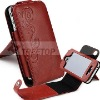 For iPhone 4s leather case with beautiful patterns, genuine leather case