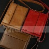 Functional real leather briefcase cover for iPad 2 with shoulder strap