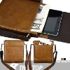 Genuine Leather Shoulder Bag for iPad 2--cow leather material