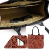 Genuine leather bag with Orange flax for 11'' laptop bag--HOT SELLING!!!