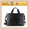 Genuine leather laptop briefcase