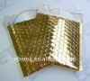 Glossy Golden color Metallic foil padded packaging bags
