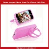 Grass Hopper Silicon Case For iPhone 4 4S-Pink