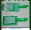 Green hard plastic pvc luggage tag