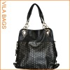 Grey Shopper Shoulder Handbag