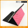 Grid Pattern PU Leather Folio Case Cover Stand for ipad 2,Customers logo,OEM welcome
