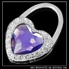 HEART LOCK PURPLE/CLEAR CRYSTAL HANGBAG HOOK HANGER