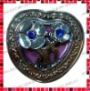 Heart Shaped Purse Hanger with Hollow Design/with 3D Flowers