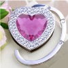 Heart shape bag hanger with crystal