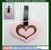Heart shape soft PVC luggage tag