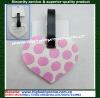 Heart shape soft PVC luggage tag