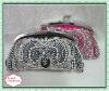 High Quality Evening Handmade Embroidery Satin Clutch Bag