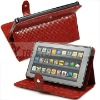 High quality Mosaic grain PU leather case for Kindle fire case--hot selling!!