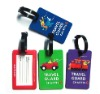 Hot sale soft pvc unique luggage tag