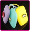 Hot sell cute promotion gift silicone key bag silicone change purse
