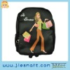 JSMART backpack M&L shopping girl BLACK