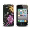 LUXMO Crystal Hard Shell Case for Apple iPhone 4 (Purple Floral)