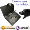 """Leather Case & USB Keyboard For 10"""" Tablet PC"""
