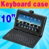"""Leather USB Keyboard Case Pouch Cover Holder for 10"""" Tablet MID ePad PC"""