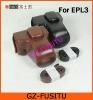 Leather case bag For OLYMPUS PEN E-PL3 EPL3 camera 14-42
