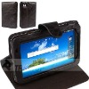 Leather case for Samsung P1000 case, top layer cow leather