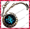 Leopard Foldable Bag Hanger/Purse Hook with Mirror Key Chain