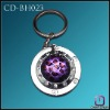 Metal Foldable Bag Hanger crystal with Key Chain CD-BH023