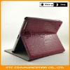 Modern Crocodile Leather Case fit for ipad2 2g WiFi,Stand,Wake up and go to sleep function,8 Colors,Customers Logo,OEM welcome