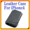 Modern Design Leather Case for iPhone4
