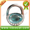 New Lock Shape W/Crystal Purse Hook Bag Handbag Hanger