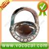 New Lock Shape W/Crystal Purse Hook Bag Handbag Hanger