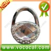 New Lock Shape W/Diamond Purse Hook Bag Handbag Hanger