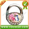 New Lock Shape W/Flower Purse Hook Bag Handbag Hanger