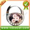 New Lock Shape W/Flower Purse Hook Bag Handbag Hanger