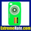 New Stylish Camera Design Silicone Case for iphone 4 Cover 4S 22 Optional Colors