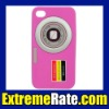 New Stylish Camera Design Soft Silicone Back Cover for iphone 4 Case 4S 4G + Free Shipping