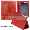 Newest fashion real leather smart case for Apple iPad 2, for ipad 2 smart cover